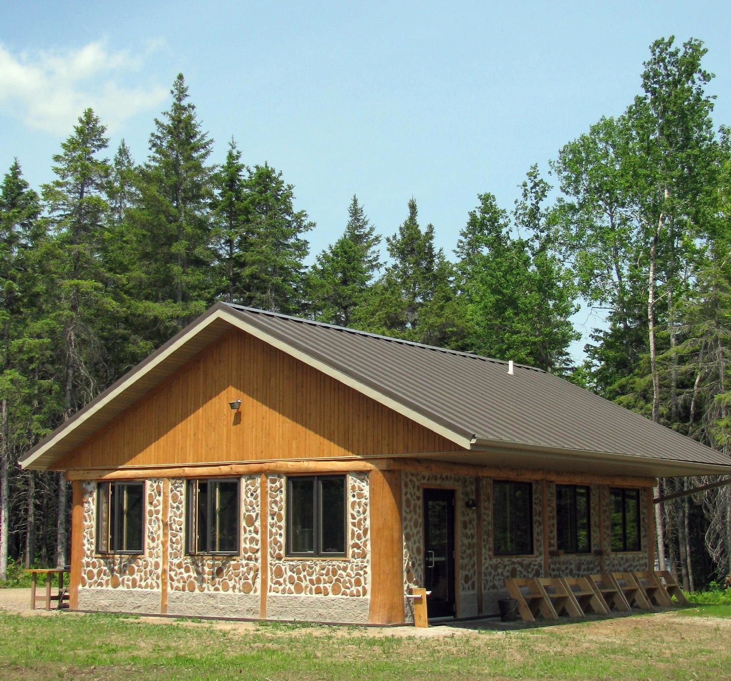 Cordwood education center for Cordwood house foundation